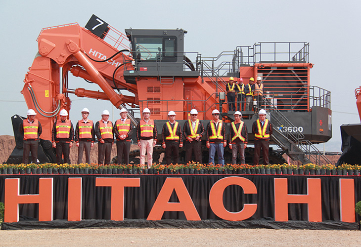 Group Photo with Mining Excavator EX3600-6LD